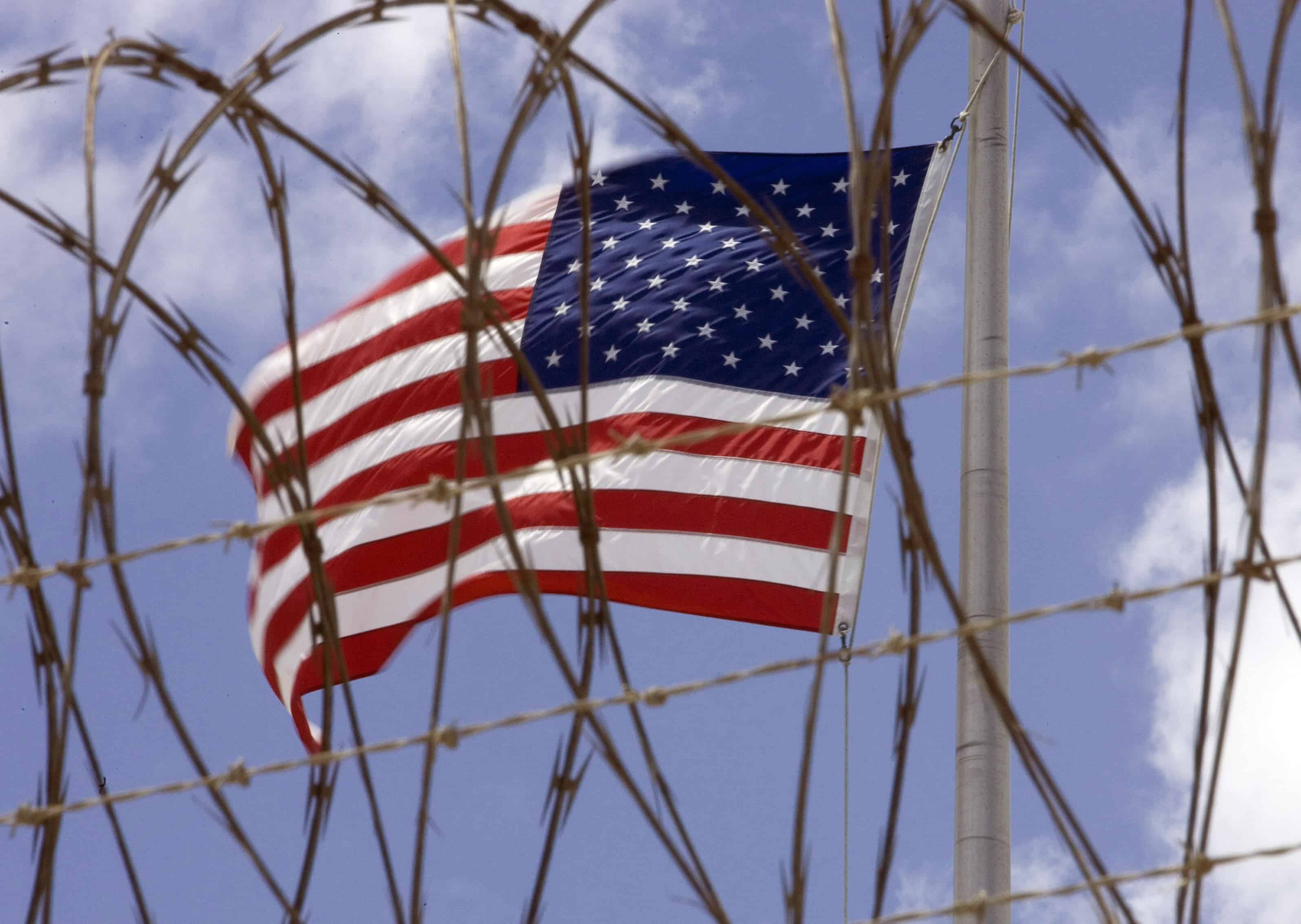 A U.S. flag at Guantanamo Bay.