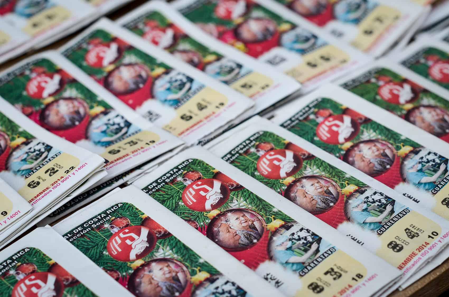 """Lottery tickets from """"El Gordo Navideño."""""""