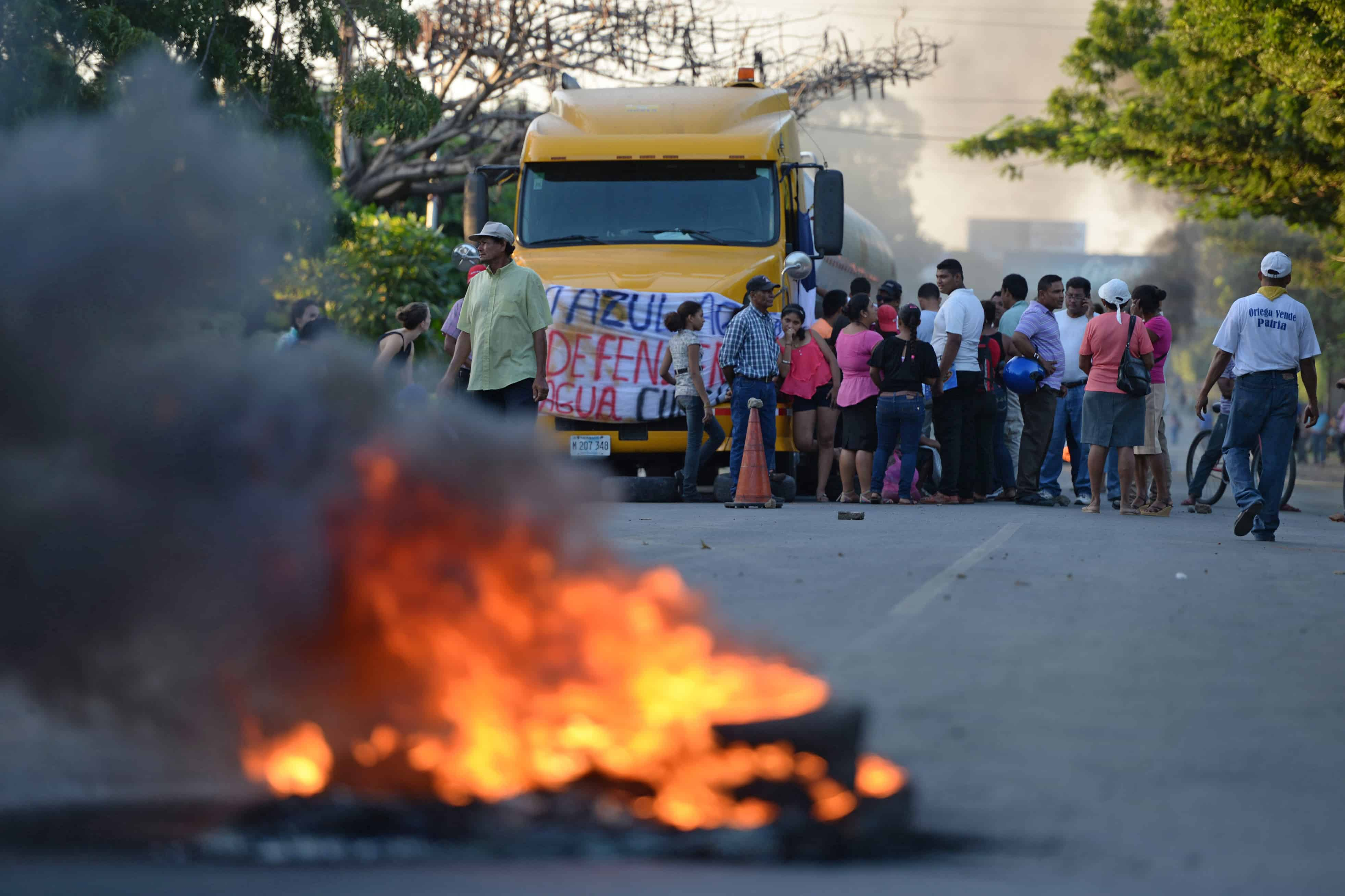 Nicaragua canal protest