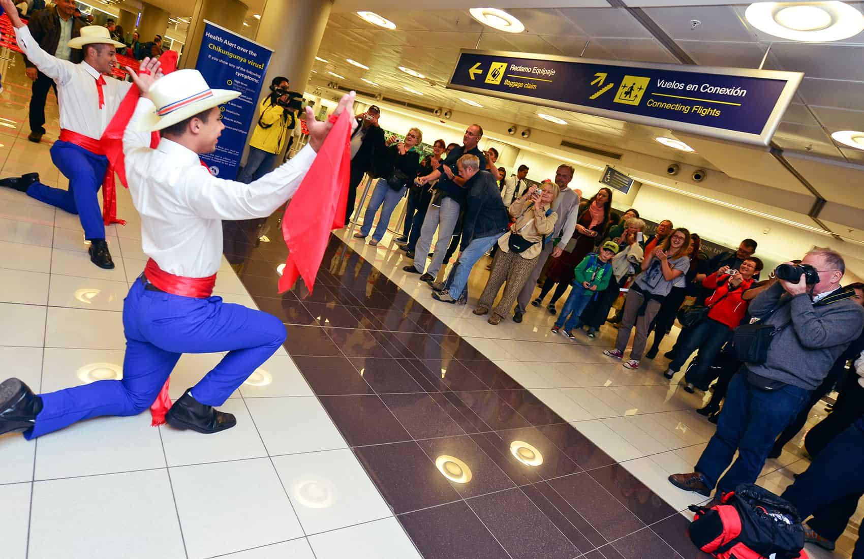 Tourists at Juan Santamaría International Airport