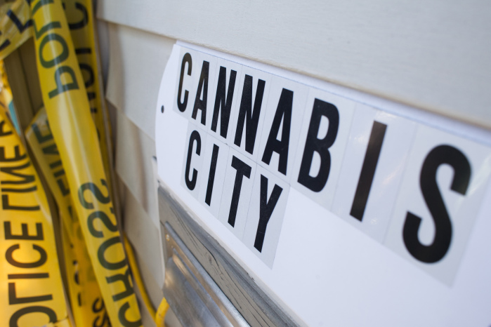 "A sign in Seattle that says ""Cannabis City"""