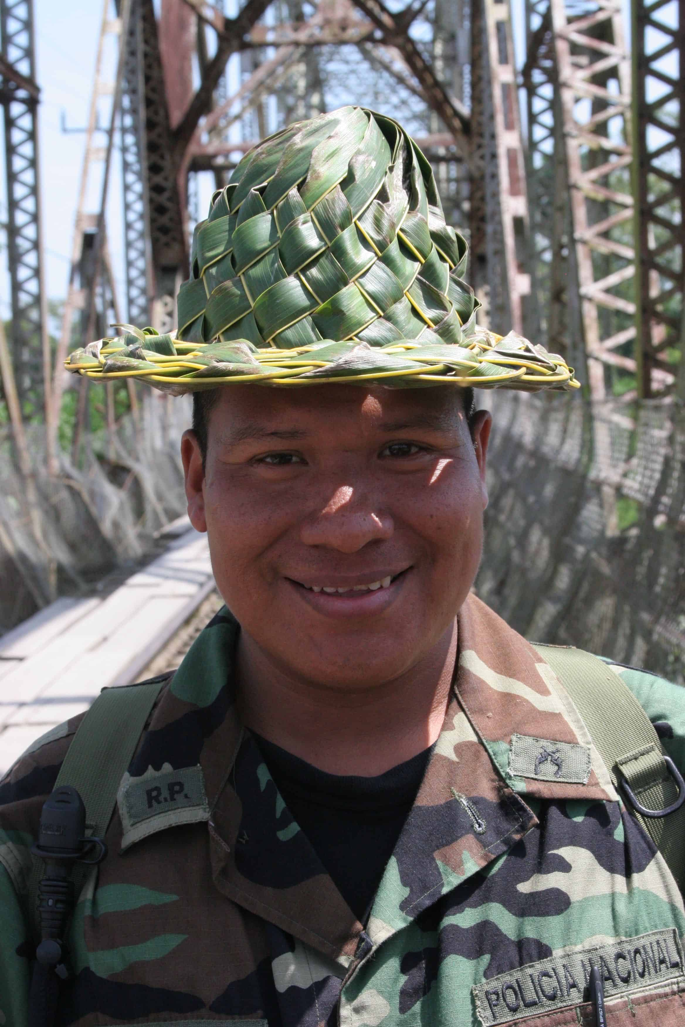 A member of the Panamanian National Police at the Costa Rica-Panama border. July 24, 2006.