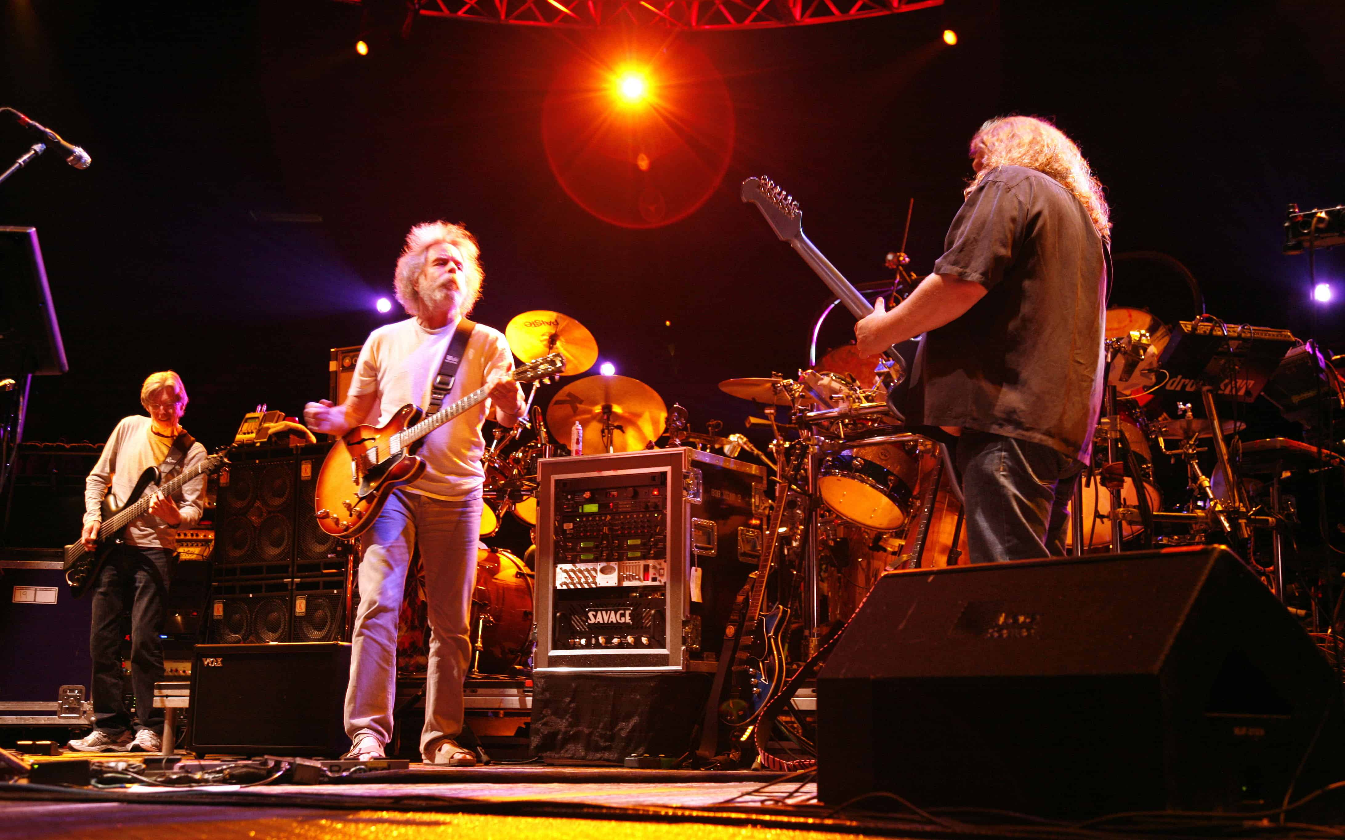 Phil Lesh, Bob Weir and Warren Haynes of The Dead perform in 2009.