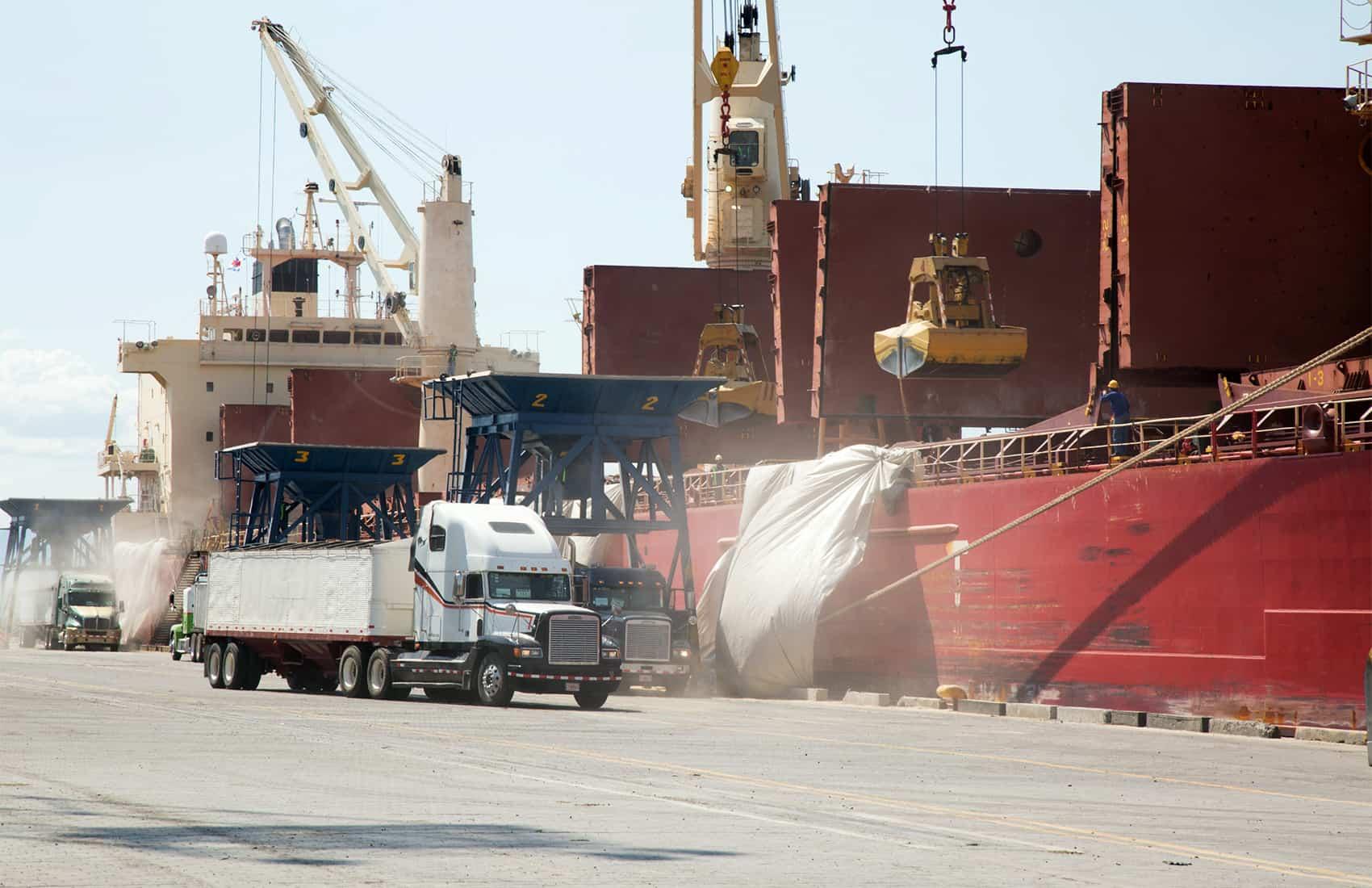 Cargo at Caldera dock