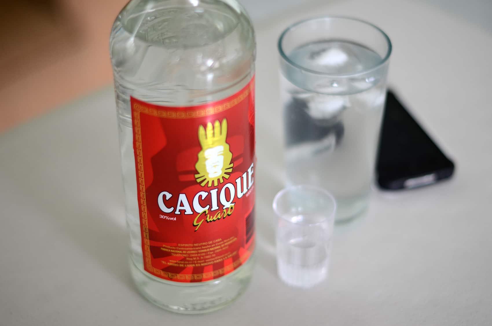 Guaro, Costa Rica's national liquor.