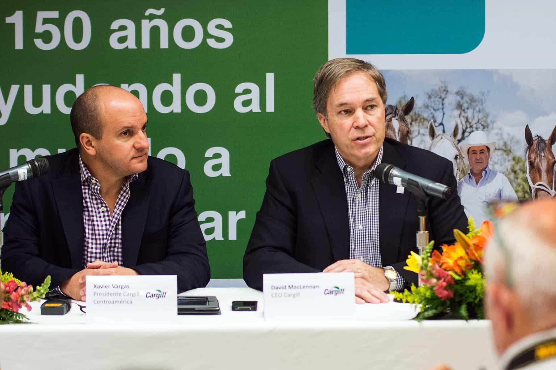 Xavier Vargas, David MacLennan of Cargill
