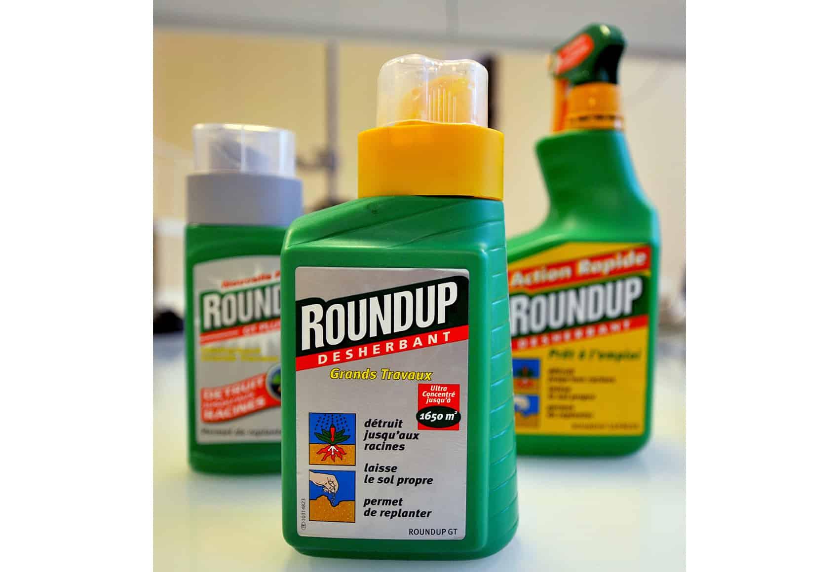 Bottles of Roundup.