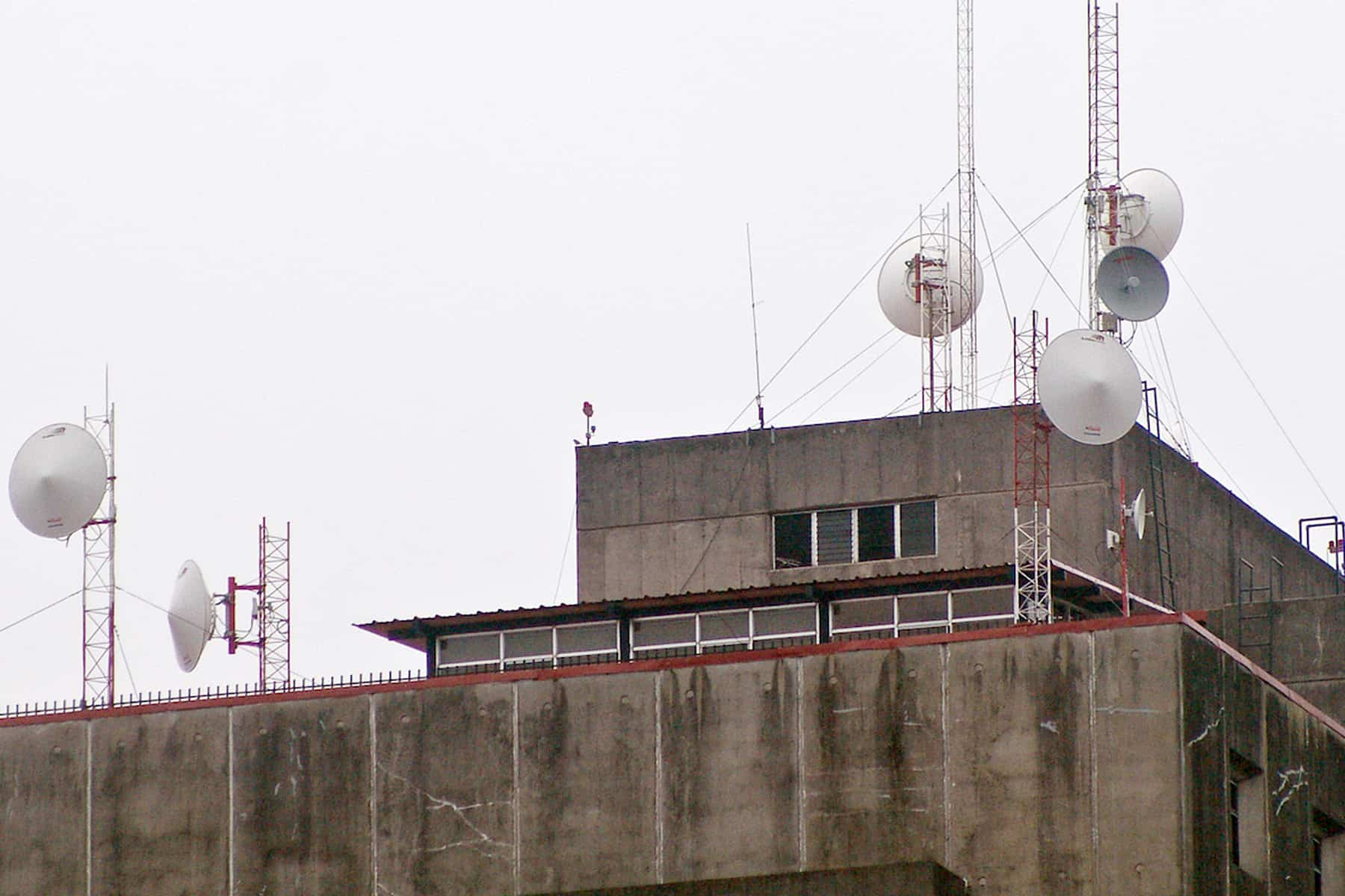 Telecommunications towers in San José