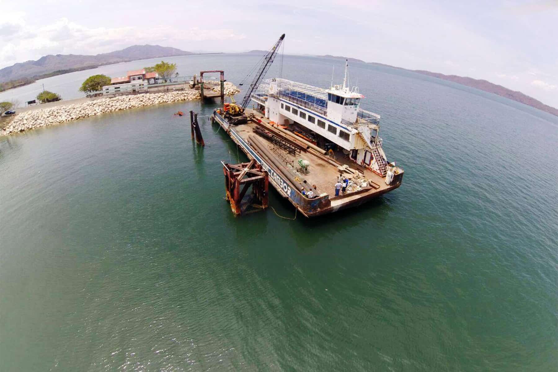 Ferry dock at Playa Naranjo