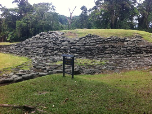 The central mound at Guayabo.