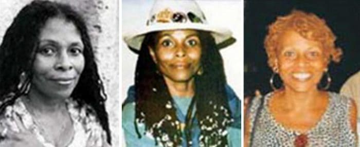 "Undated images released by the FBI show Joanne Chesimard, who is listed by the FBI as a ""Most Wanted Terrorist."""