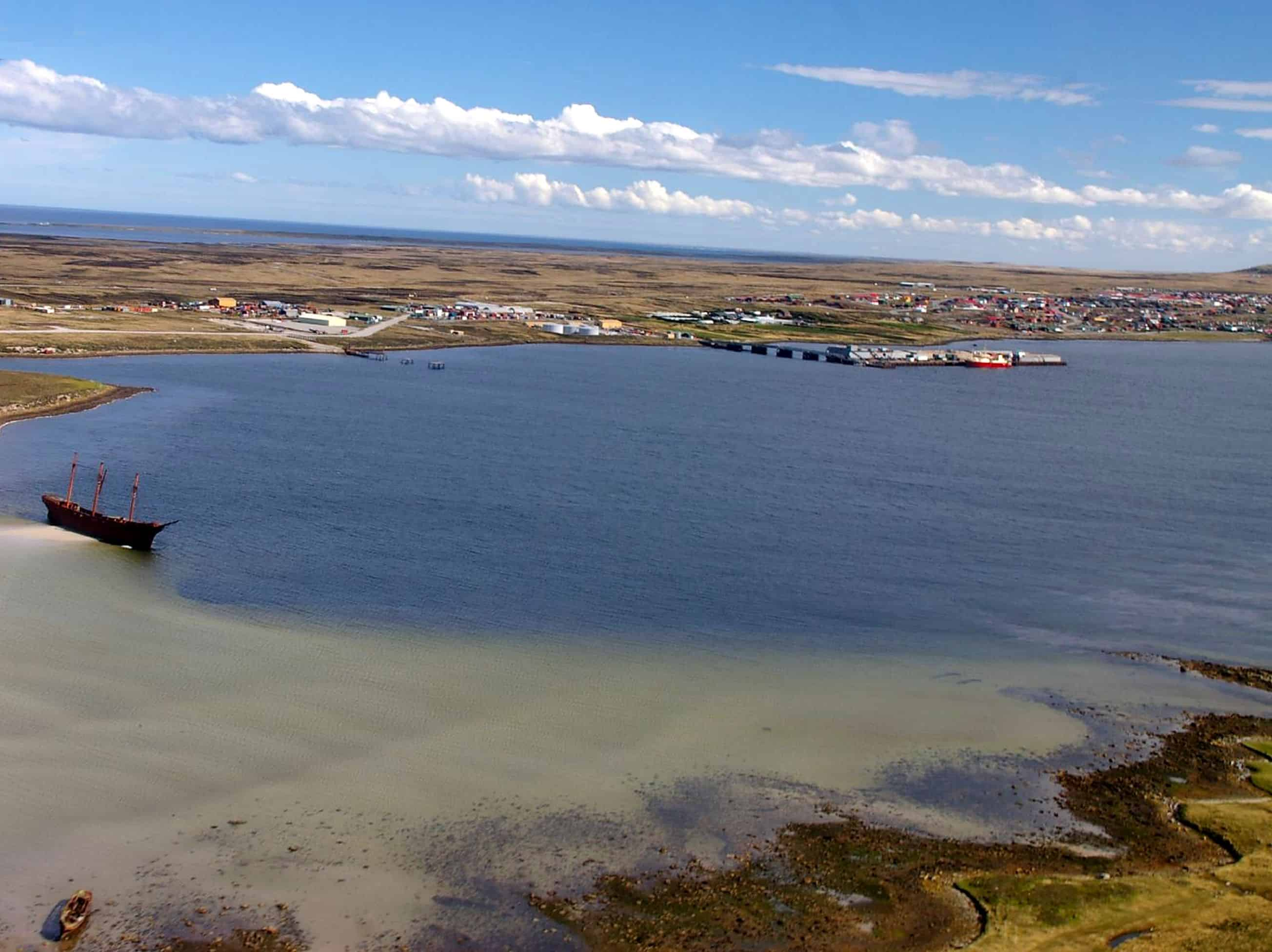 Stanley Harbour, Falkland Islands, March 21, 2007.