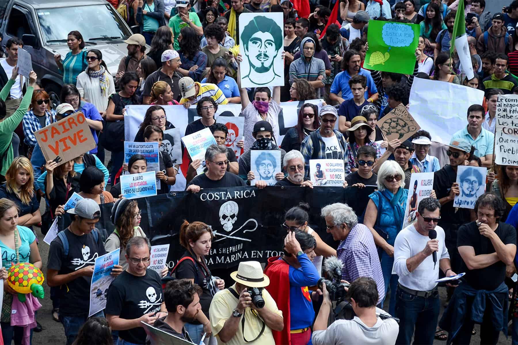 Jairo Mora protest