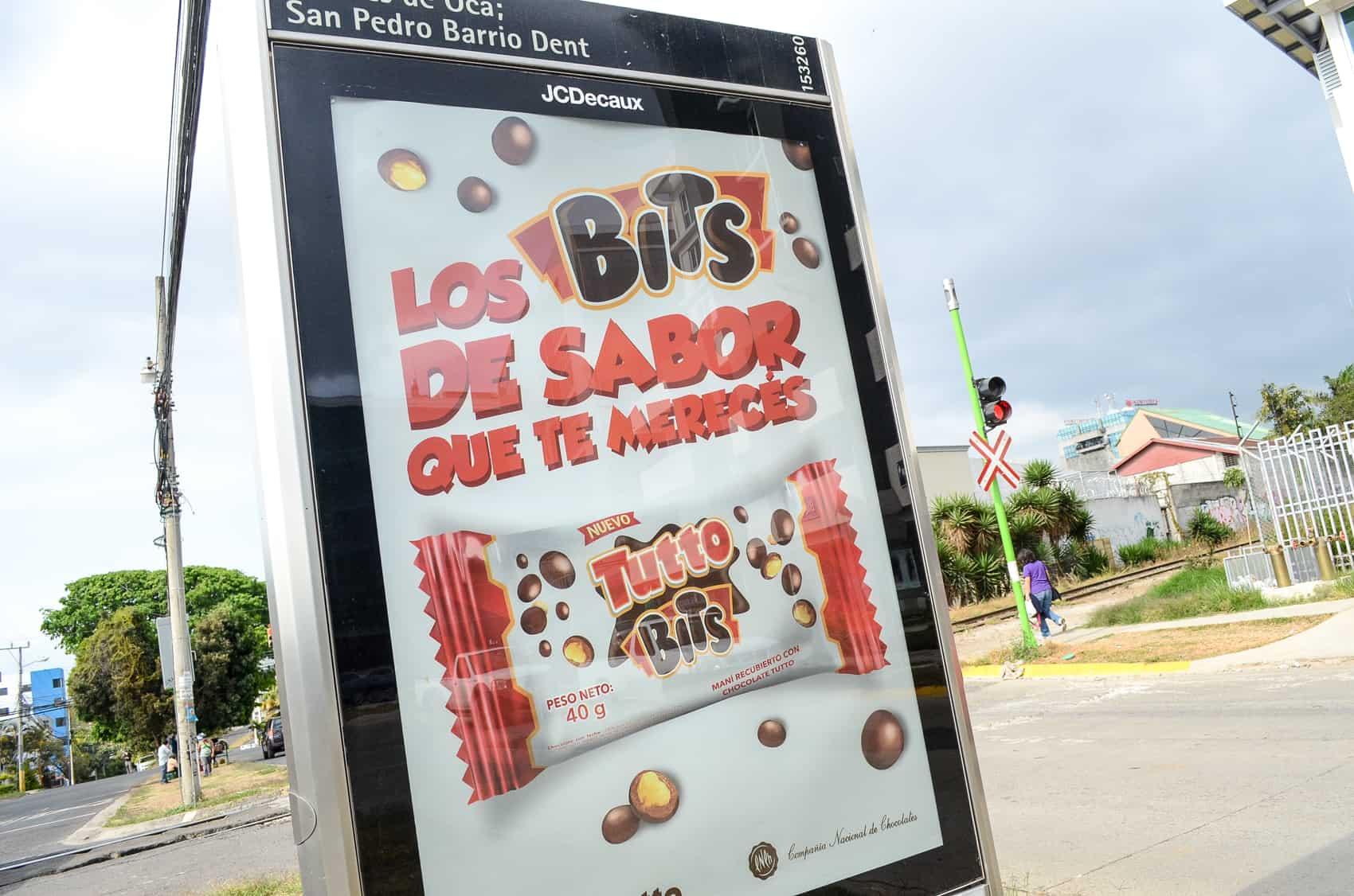 """An advertising billboard for """"Los Bits de Sabor"""""""