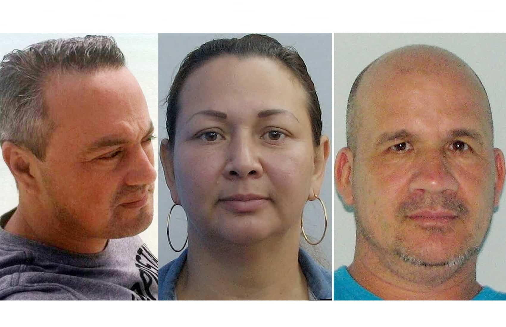 Costa Ricans Rafael Garbanzo Cascante (L), 42, his wife Edith Alfaro Porras ©, 40, and Eliécer Ruiz Ureña (R), 46, currently are reported as missing by the International Police.
