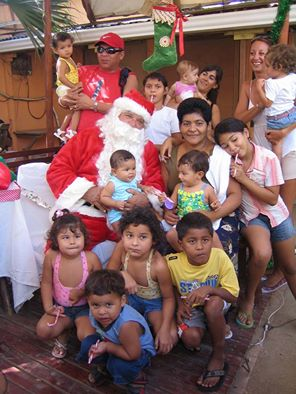 Barry Lawson playing Santa Claus in Tamarindo.