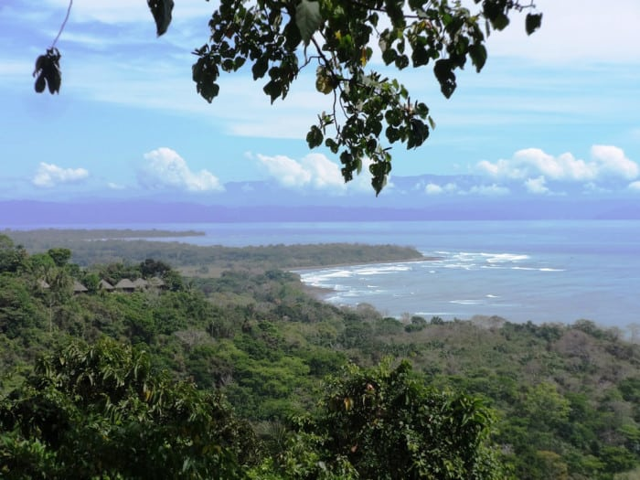 View of Osa Peninsula to the north from the Matapalo highlands.