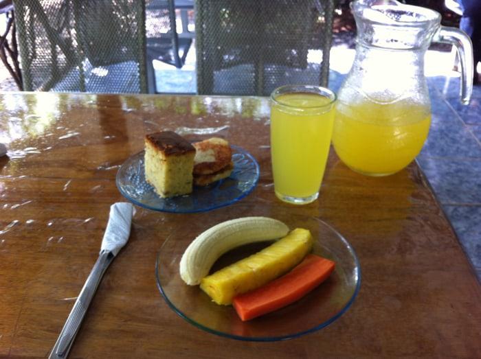 Breakfast on the trail.