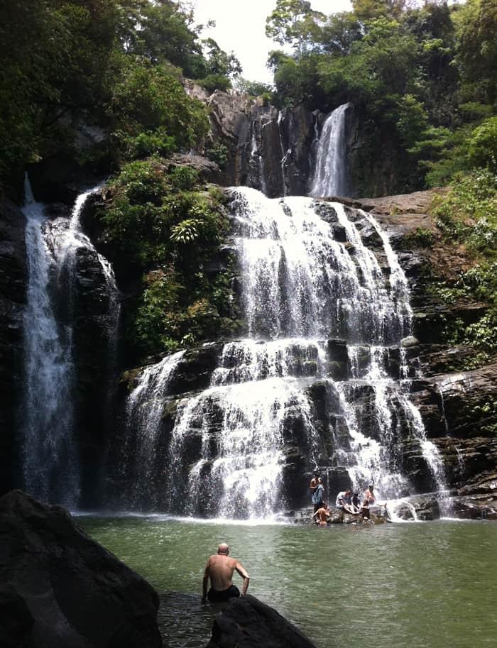 The lower Nuayaca falls.