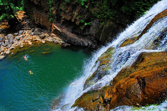 Waterfalls are more spectacular during the rainy season.
