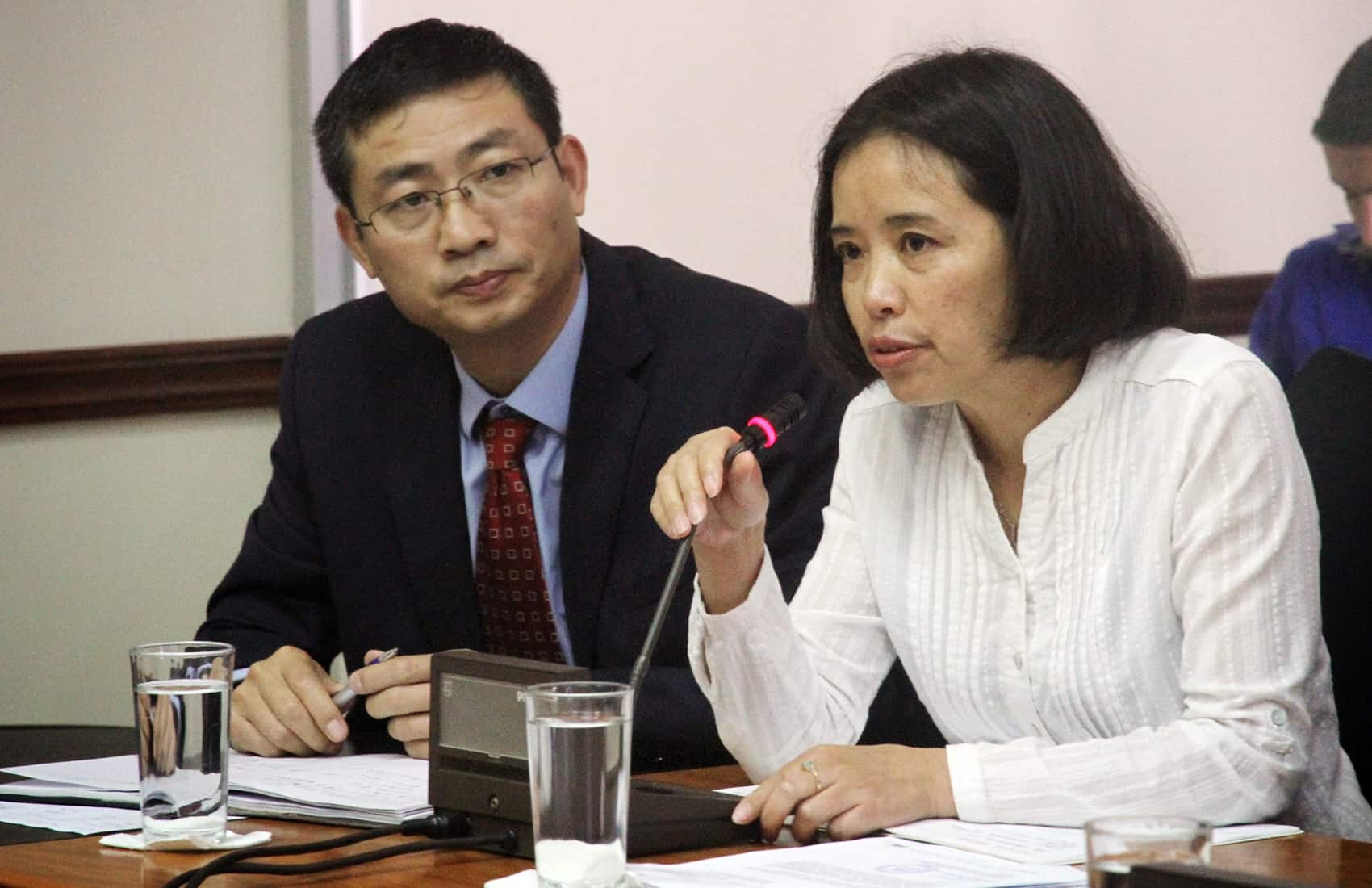 CHEC representatives Zhou Jingxiog (left) and Teresa Wu (right).