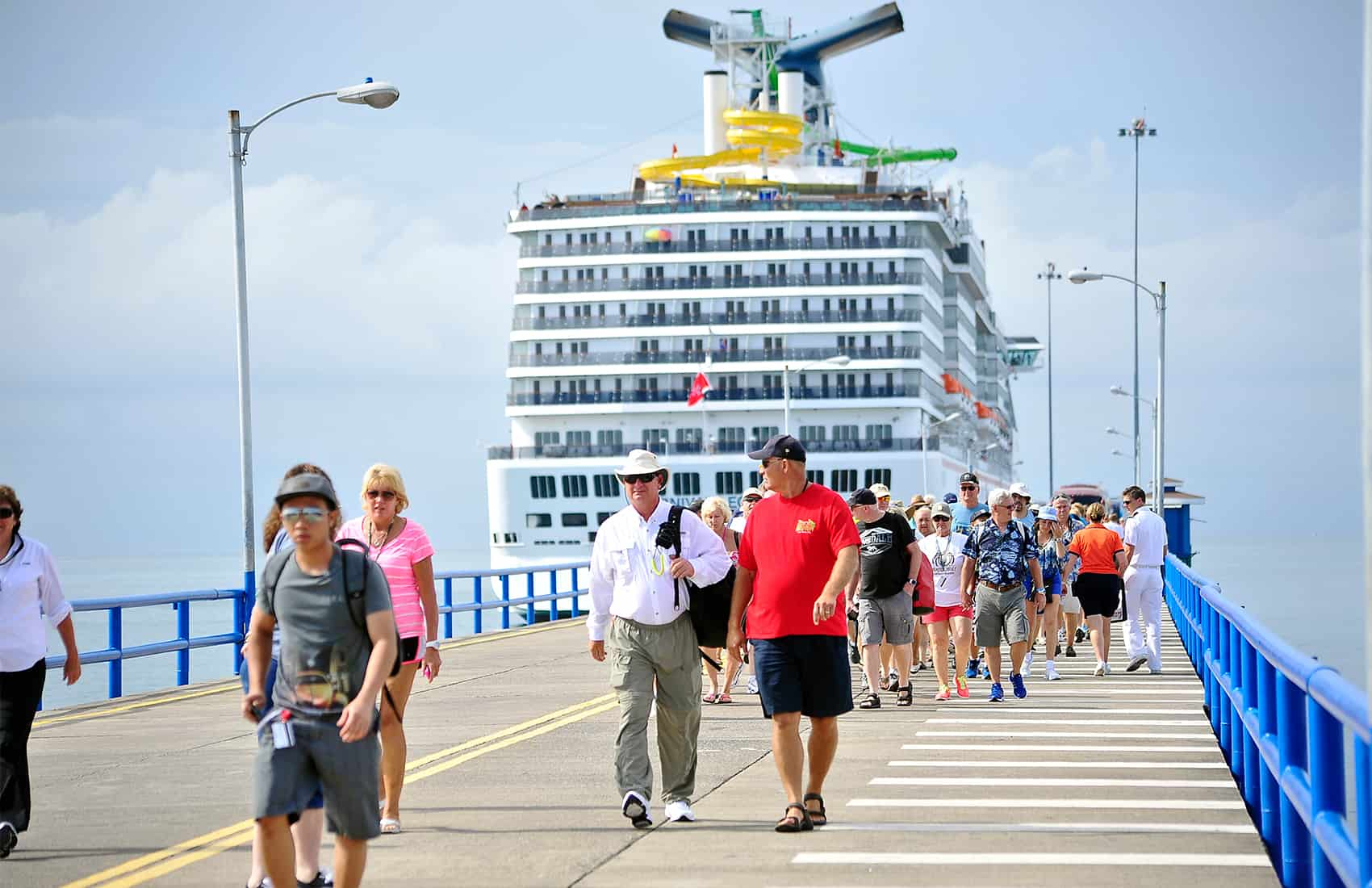 Cruise ship tourists