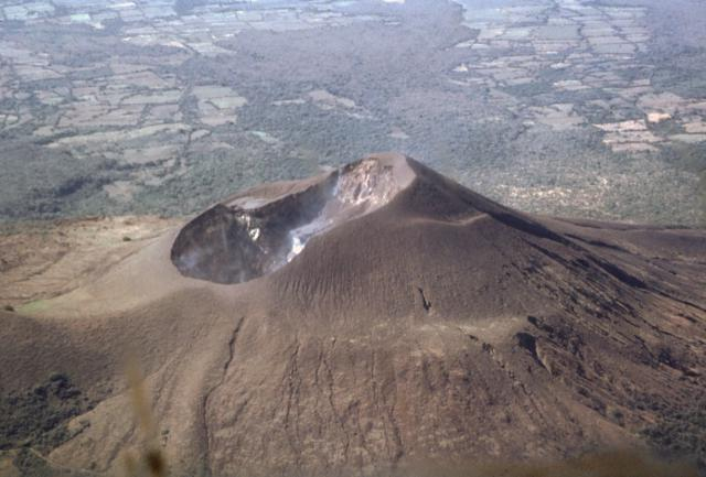 A view from the sky of Nicaragua's Telica Volcano.