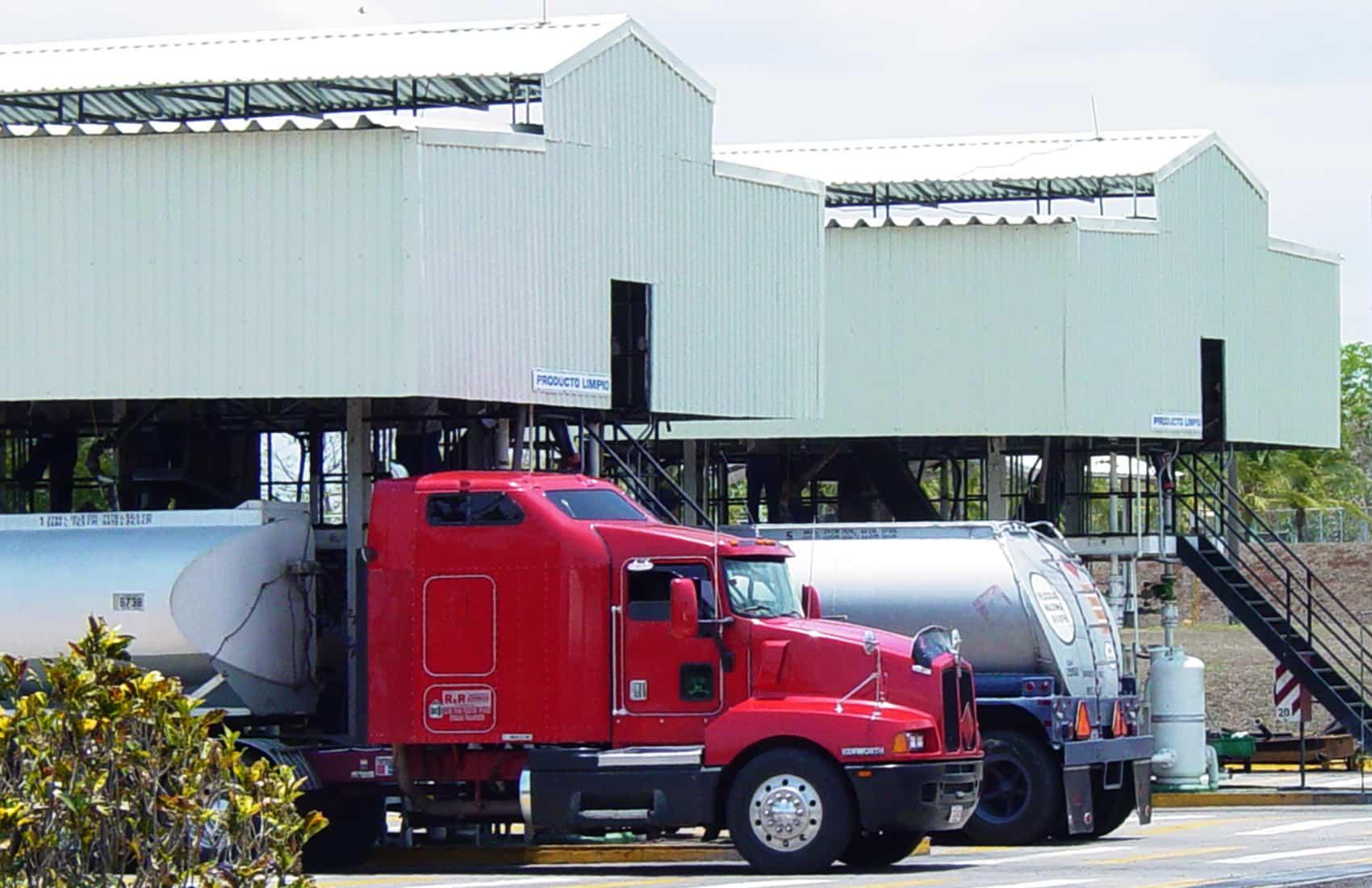 Propane distribution trucks