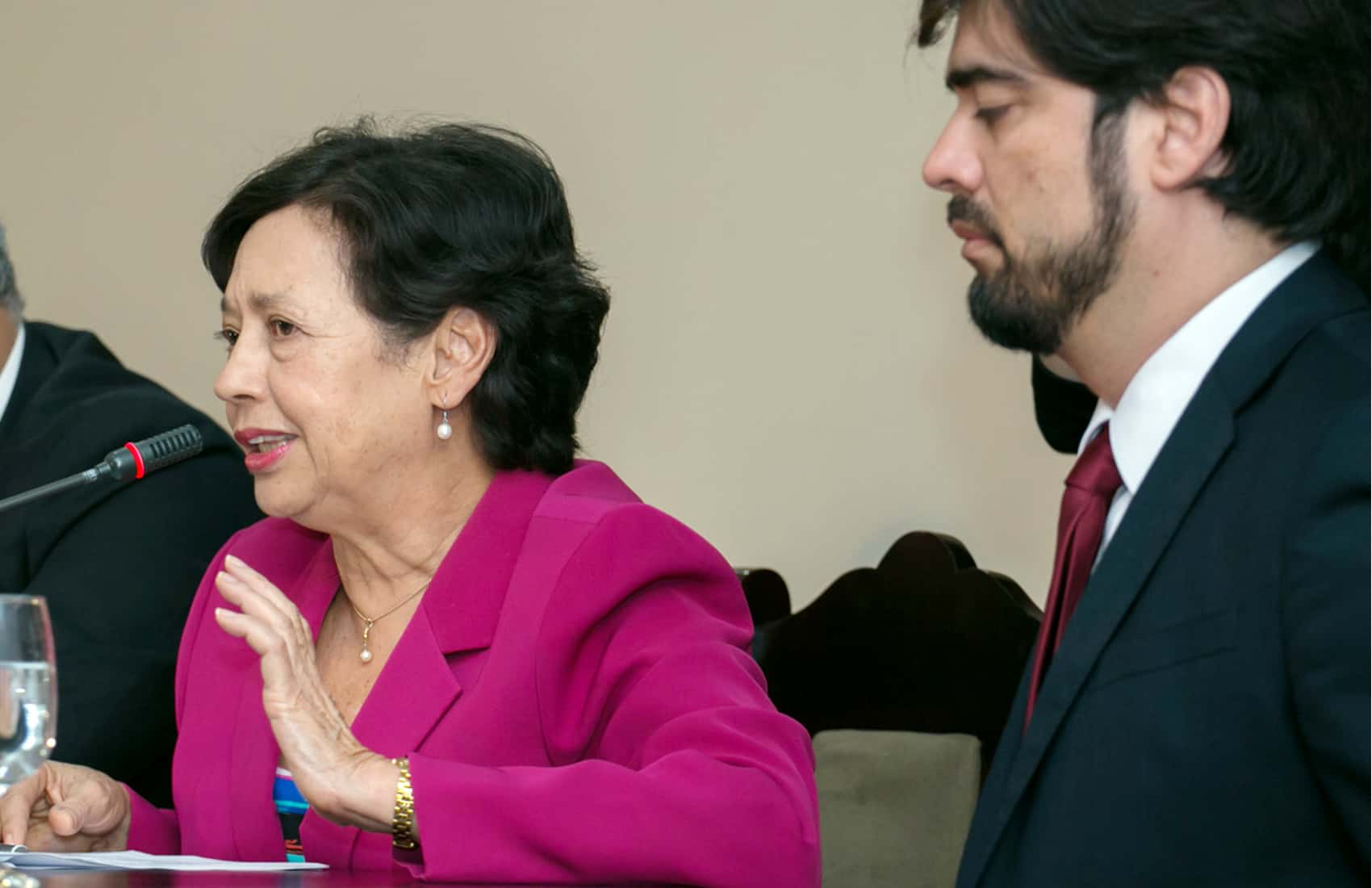 Former Culture Minister Elizabeth Fonseca and FIA director Inti Picado | Costa Rica politics