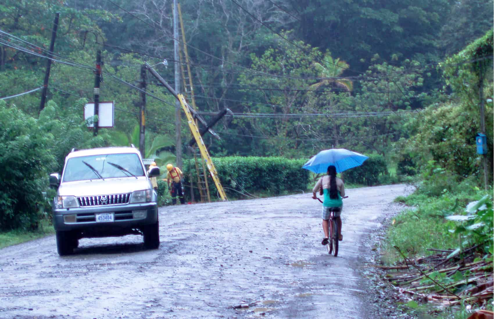 Emergency officials are warning residents of the Caribbean and northern regions about potential flooding, landslides and strong wind, May 18, 2015.