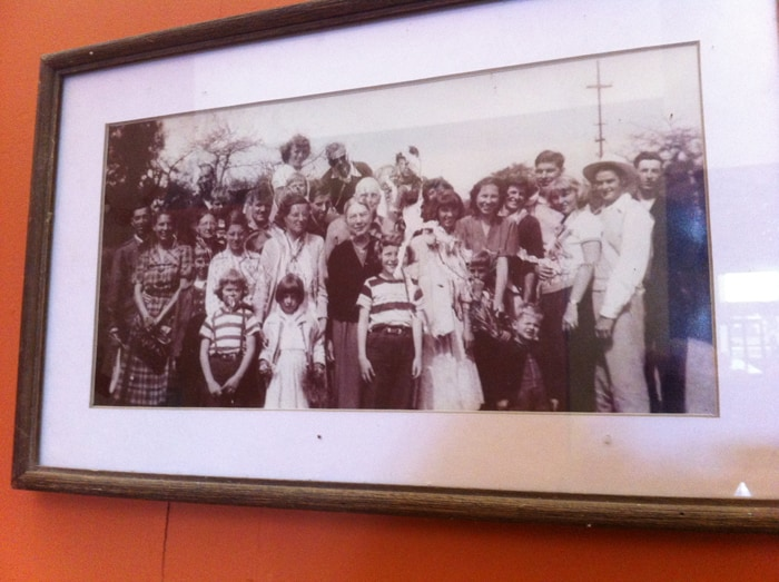 A photo of the original Quaker families in Monteverde.