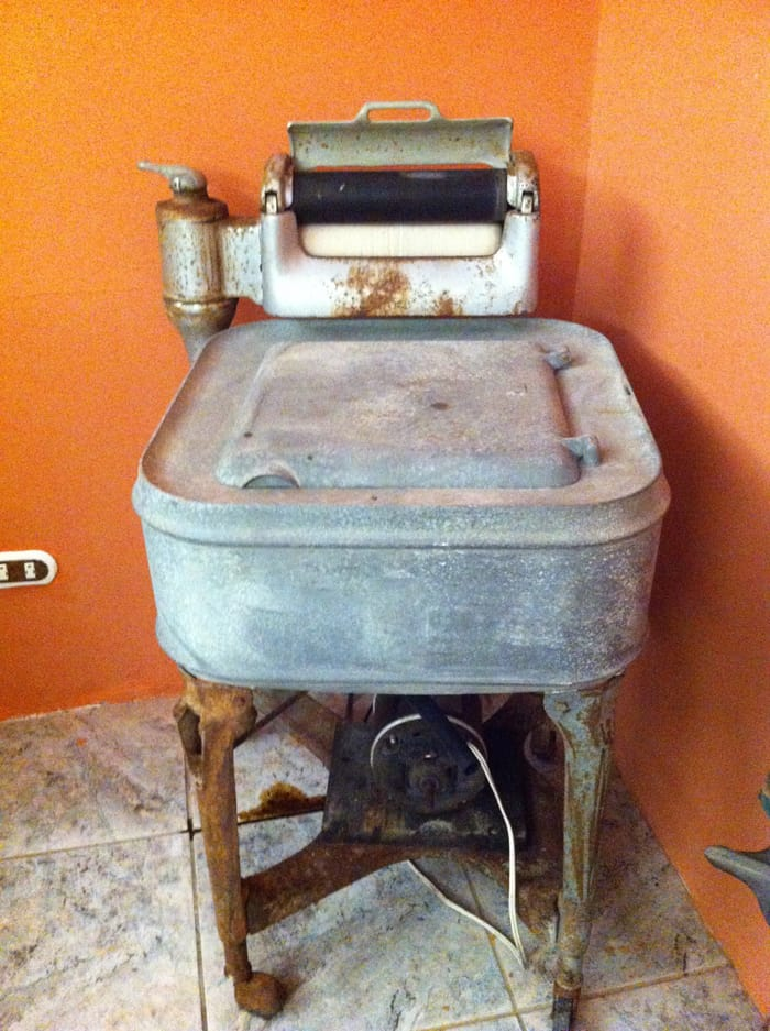 Monteverde's first washing machine.