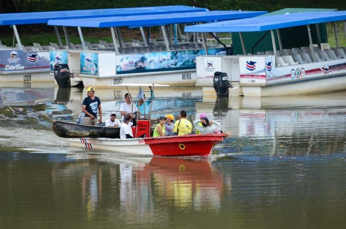 our boats at the Río Frío in the town of Los Chiles, April 28, 2015.