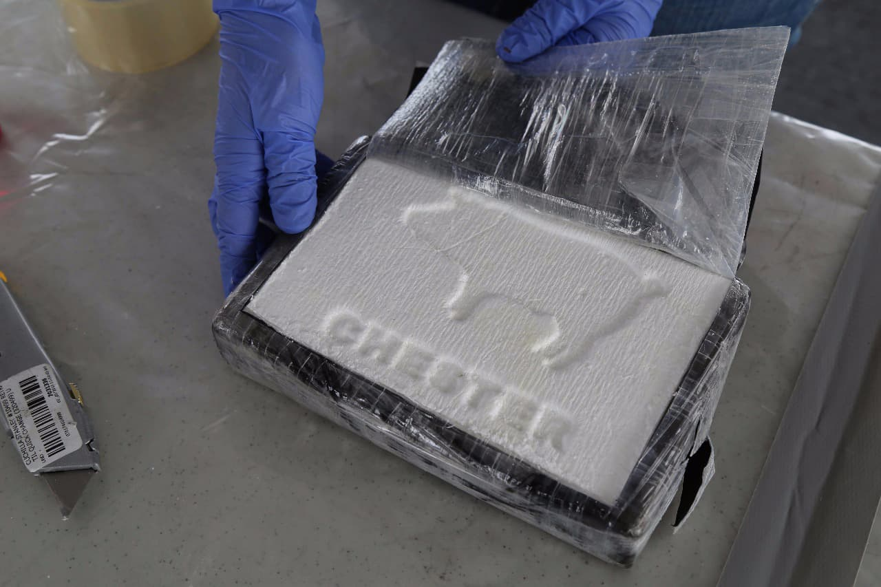 A sample of 1.8 metric tons of cocaine.