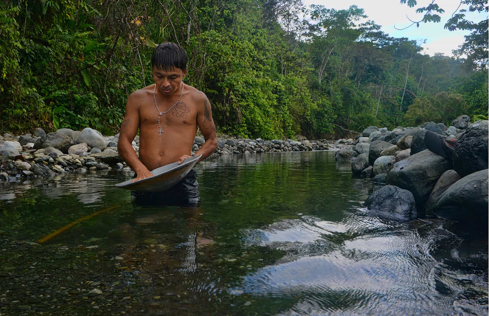 """Edgar"" says he's been inside Corcovado National Park on the Osa Peninsula to mine gold many times. He's been caught twice. A third time could result in an eight-year prison sentence, but he says the money's worth the risk."