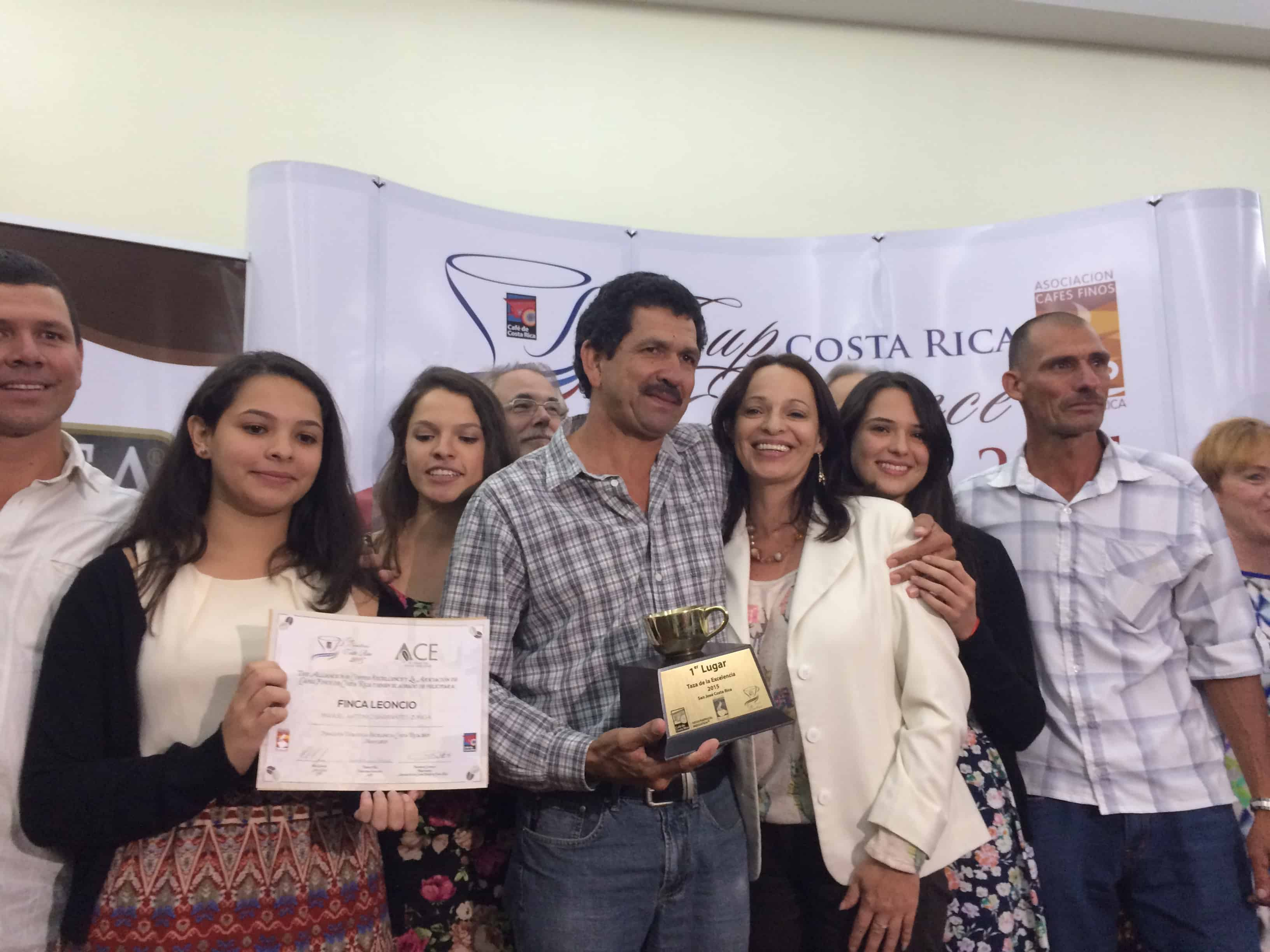 Manuel Antonio Barrantes, the winner of the Cup of Excellence.