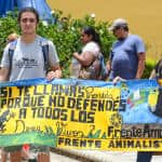 Members of the Broad Front Party participated at the 7th National March Against Animal Abuse in San José.