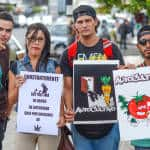 Home growing and no more police abuse at the Marijuana legalization march in San José, May 09, 2015.