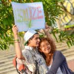 """Lagalize it"" for peace an love, at the Marijuana legalization march in San José, May 09, 2015."