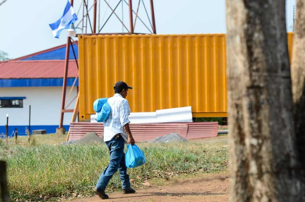 A Nicaraguan walks back to his country from Costa Rica using an illegal route.
