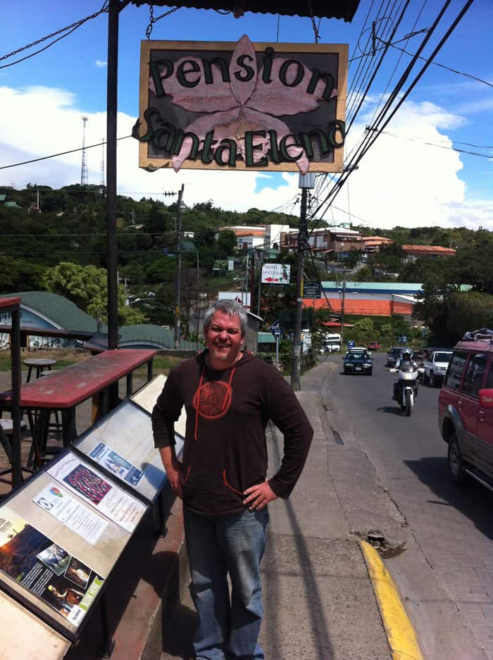 Ran Smith, owner of the Pension Santa Elena in Monteverde.