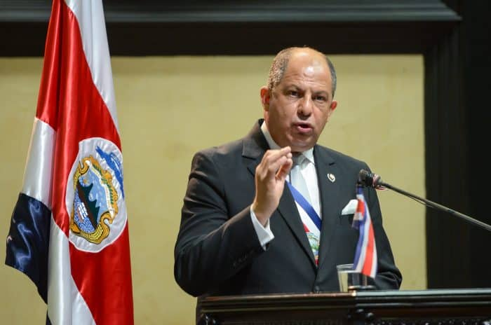 Costa Rican President Luis Guillermo Solís delivers the annual May 1 State of the Nation speech.
