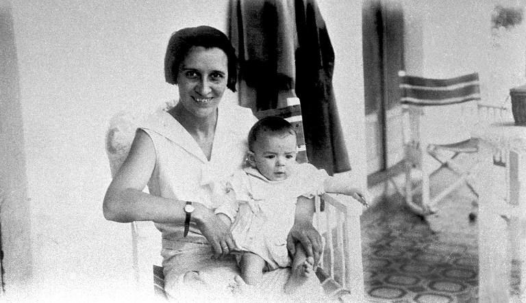 File picture without a date of Celia de la Serna holding her son, Ernesto Guevara de la Serna, born on 14 June, 1928 in Rosario, Argentina.