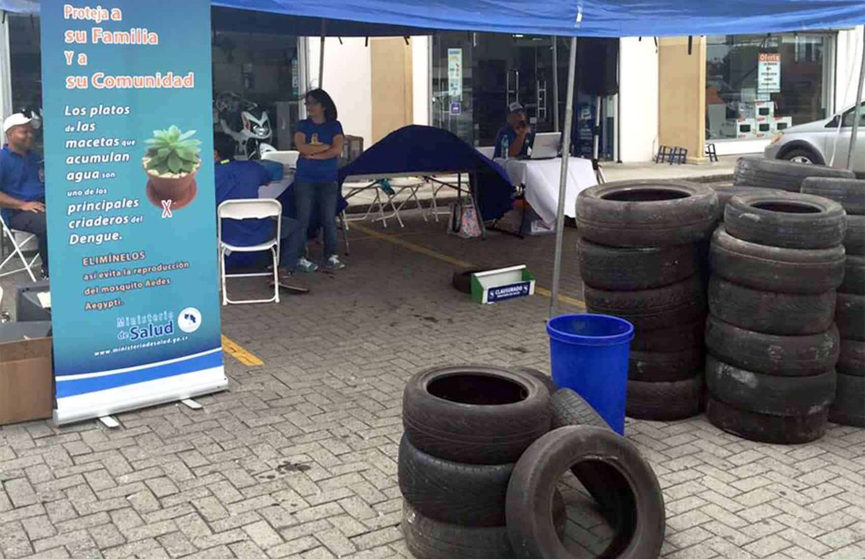 Old tires collection - dengue campaign