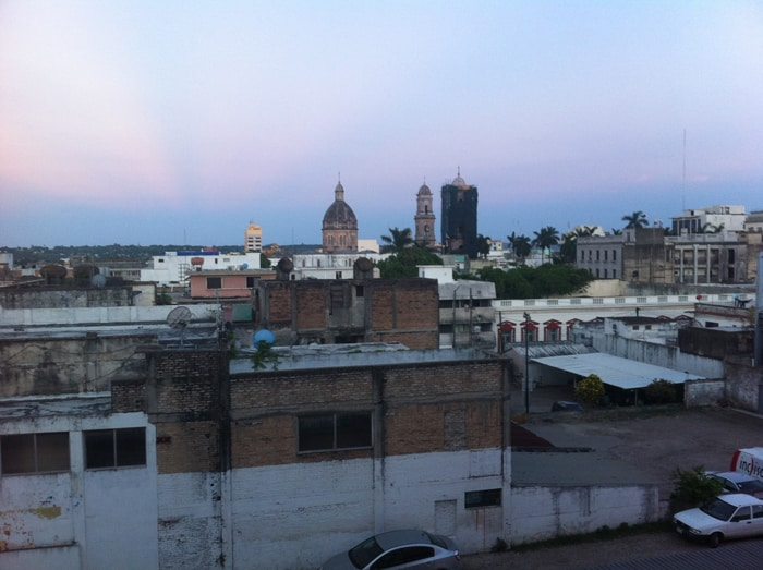 View from our hotel room in Tampico.