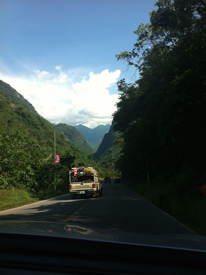 Into Guatemala.