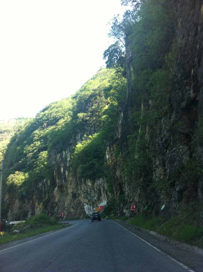The road into Guatemala.