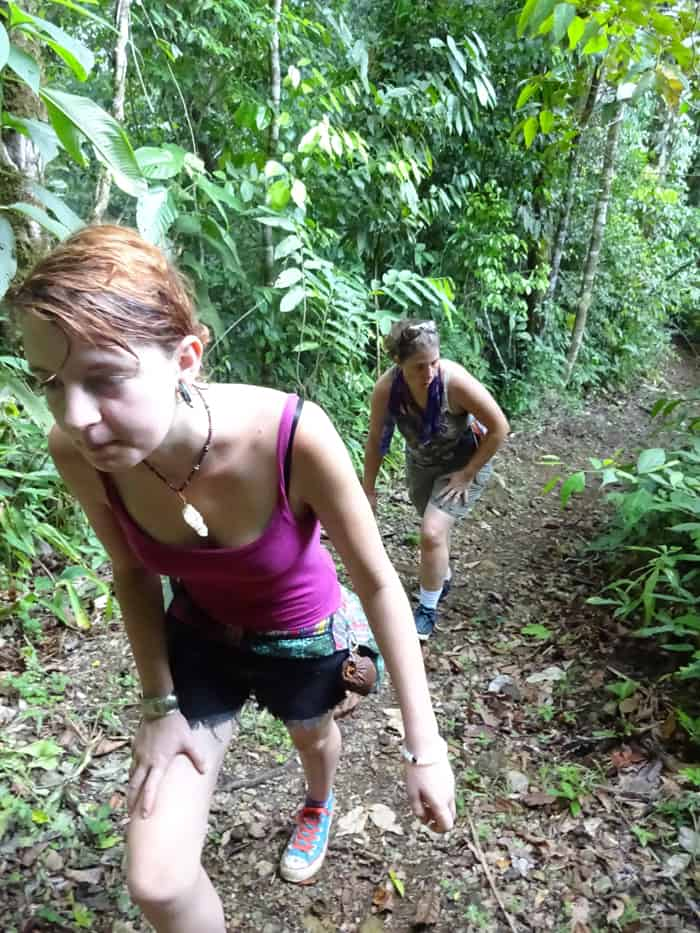 Katelynn Stratton, 18, and mother Shana, 38, tackle the arduous uphill start of El Tigre on a hot Friday morning.