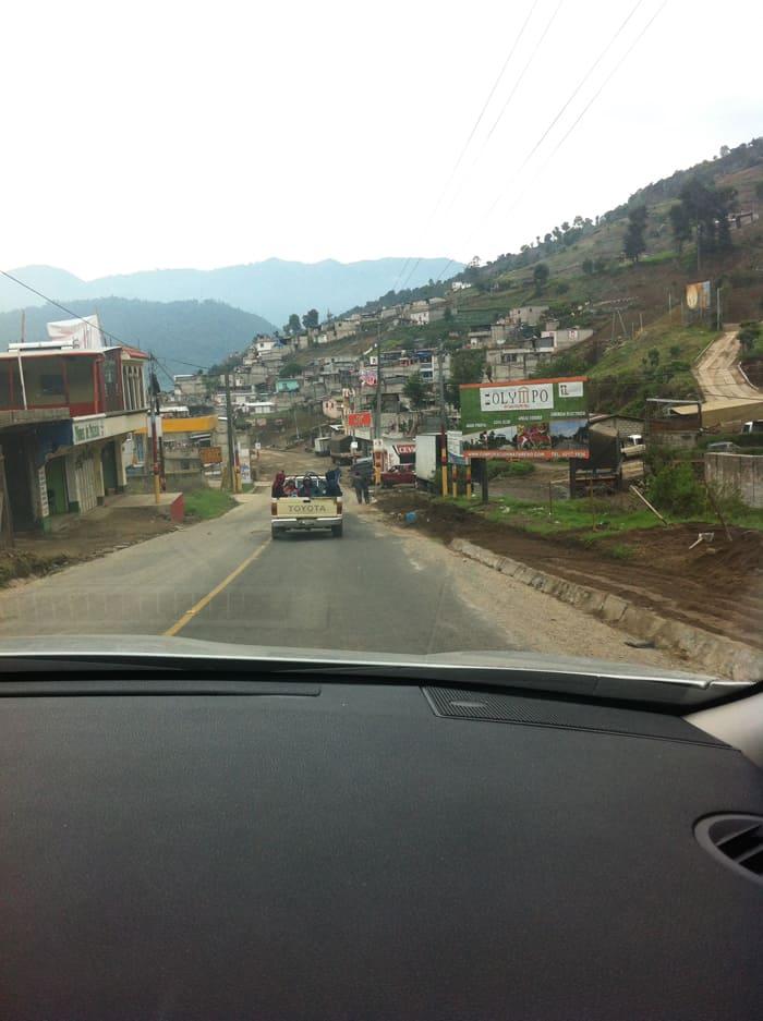 Leaving Quetzaltenango.