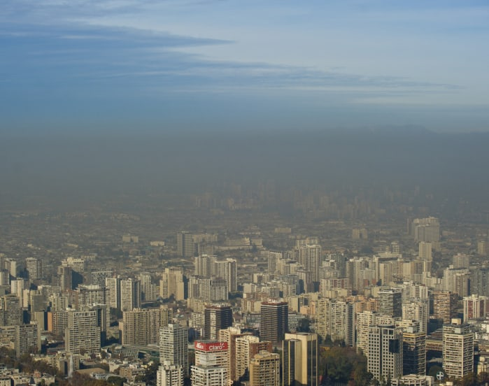 An overview of Santiago from June 5, 2015.